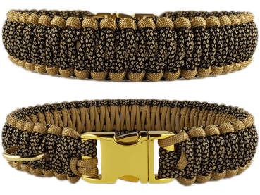 Paracord Collar Gold