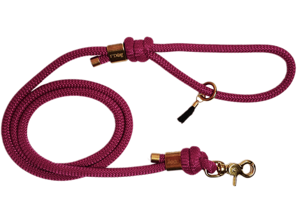 "Dog Leash ""Burgundy"""